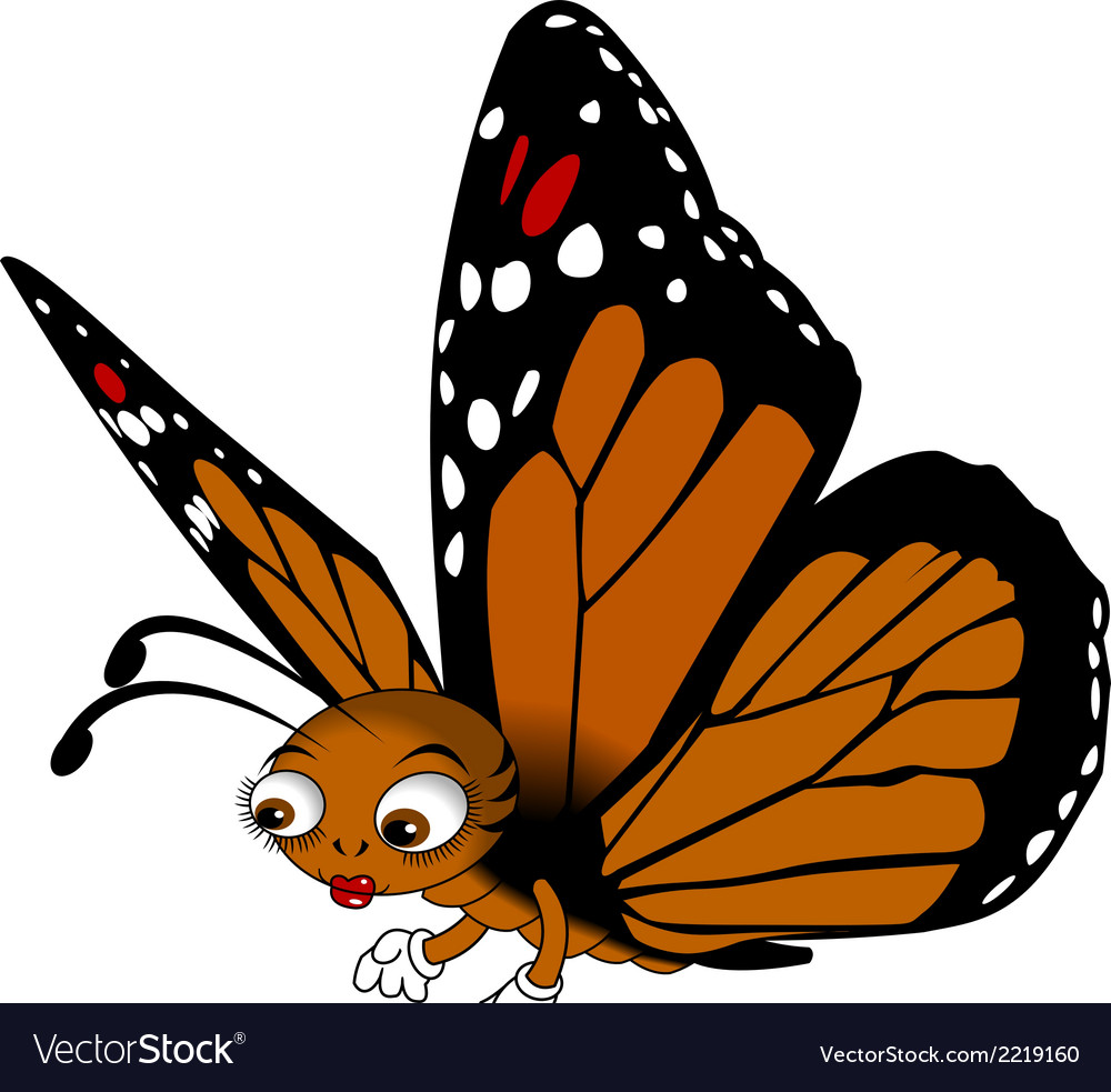 Red buttefly cartoon vector | Price: 1 Credit (USD $1)