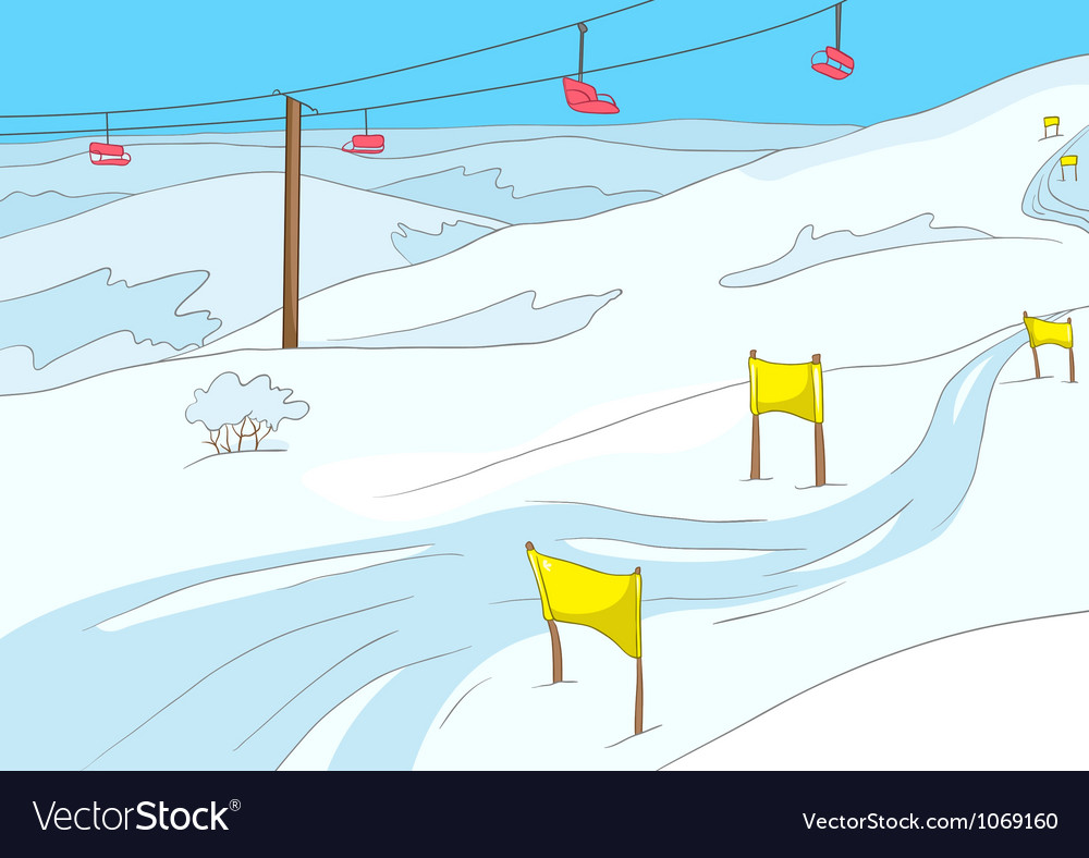 Ski resort vector | Price: 1 Credit (USD $1)