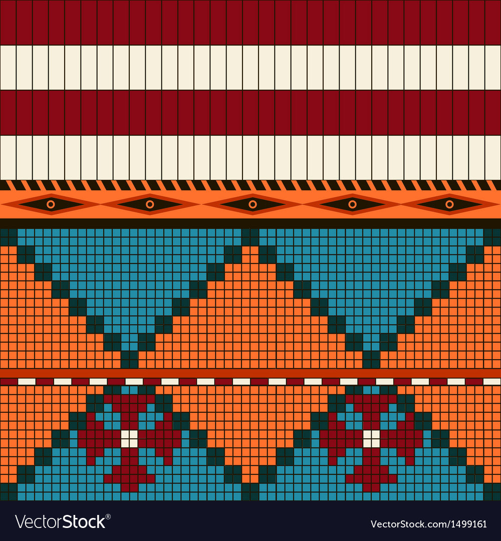 American indian pattern vector | Price: 1 Credit (USD $1)
