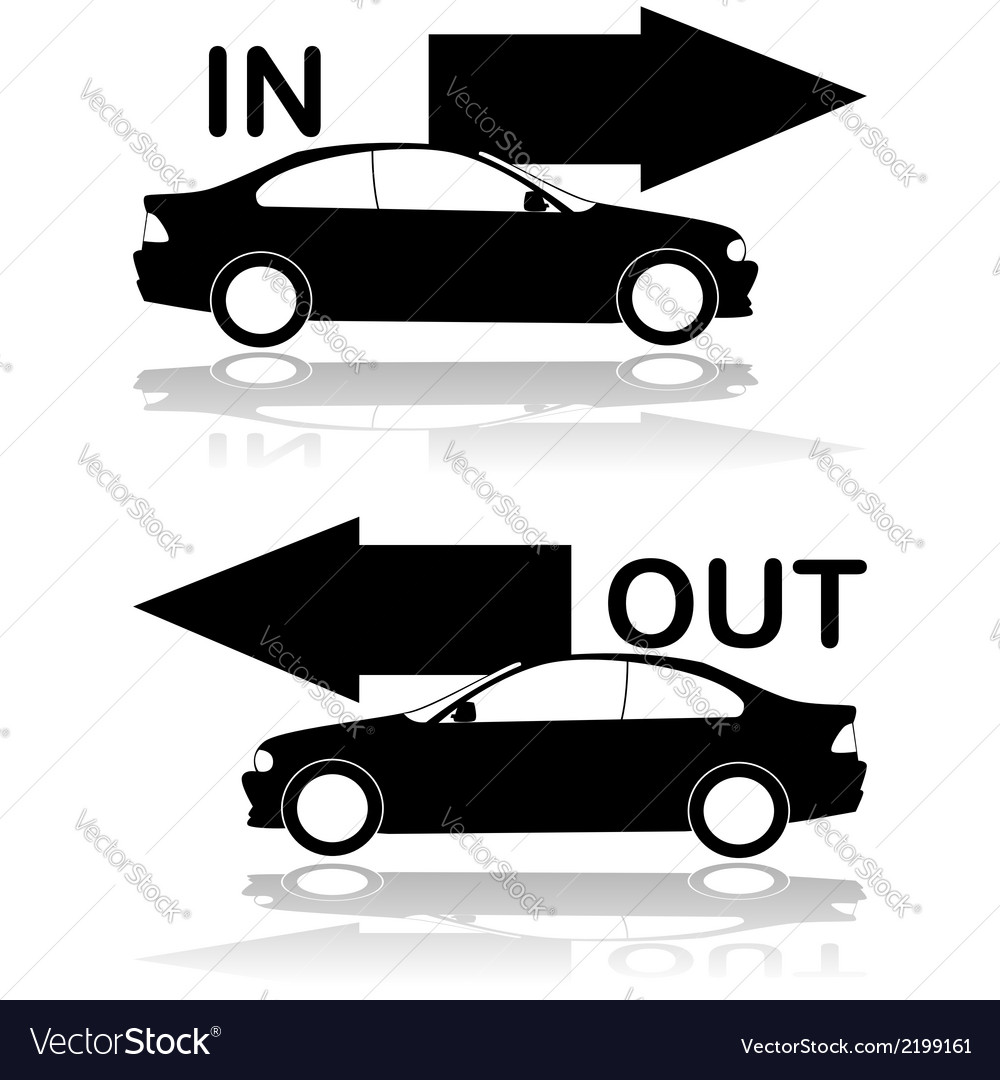 Car entrance and exit vector | Price: 1 Credit (USD $1)