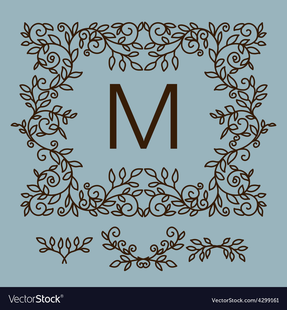 Floral frame with copy space for text in vector | Price: 1 Credit (USD $1)