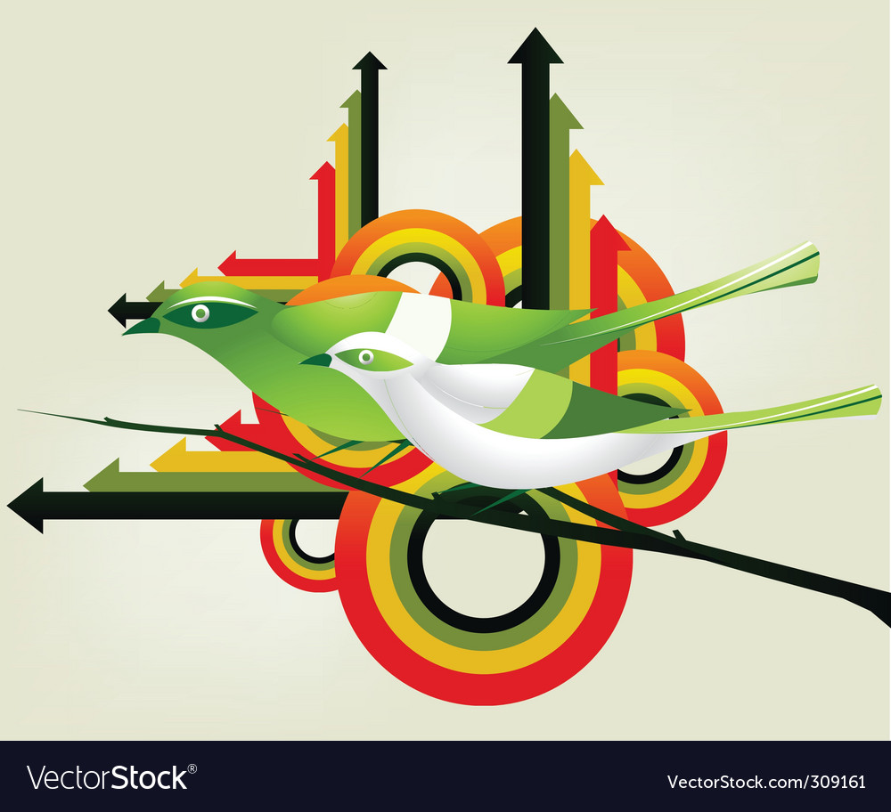 Geometric birds vector | Price: 1 Credit (USD $1)
