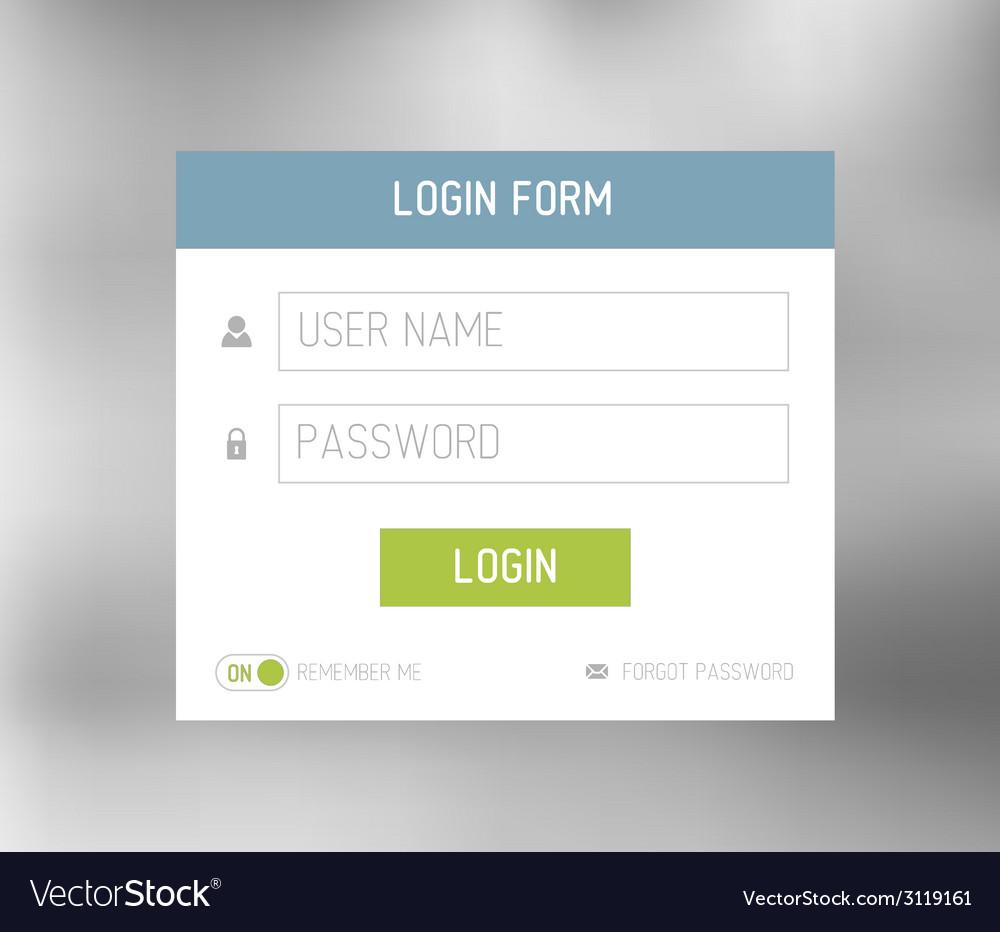 Login form template design vector | Price: 1 Credit (USD $1)