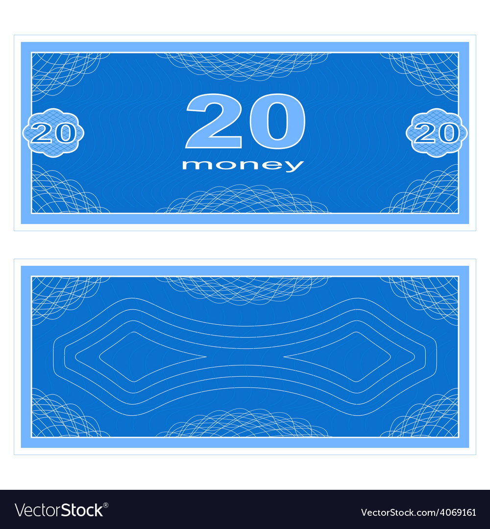 Play money twenty vector | Price: 1 Credit (USD $1)