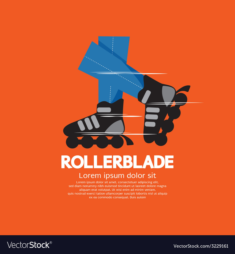 Rollerblade or roller skates vector | Price: 1 Credit (USD $1)