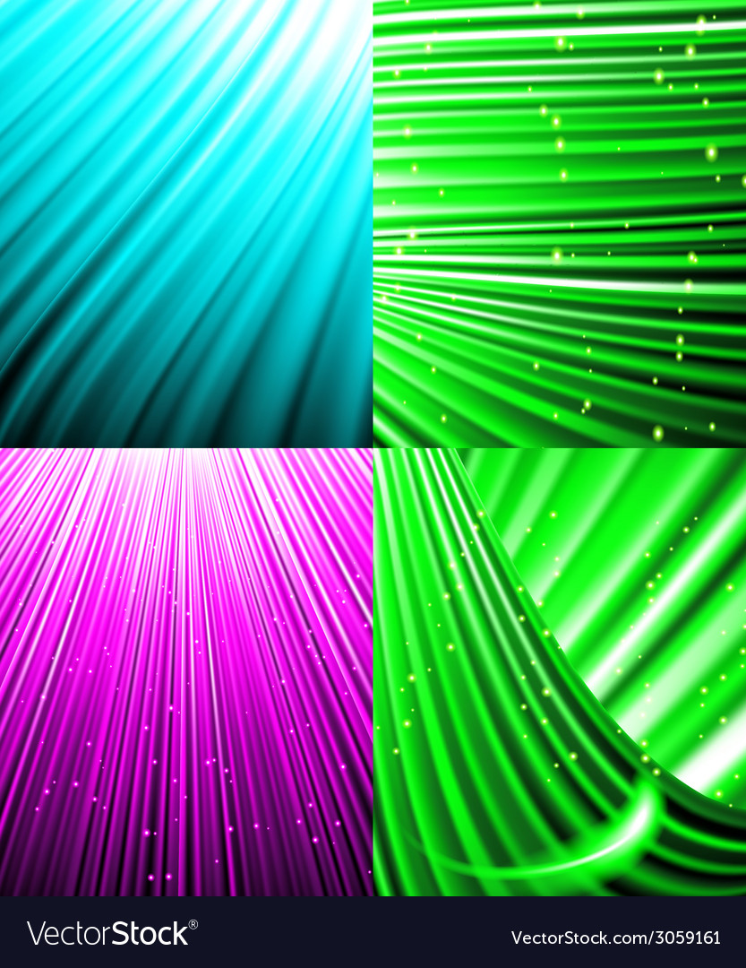 Set of background colourful luminous rays vector   Price: 1 Credit (USD $1)