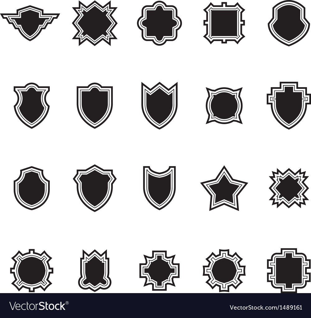Shield set 1 vector | Price: 1 Credit (USD $1)