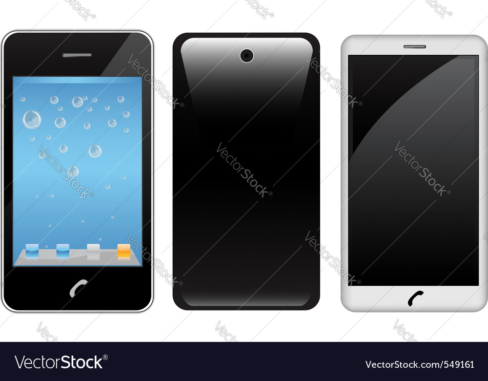 Touch screen smart phone vector | Price: 1 Credit (USD $1)