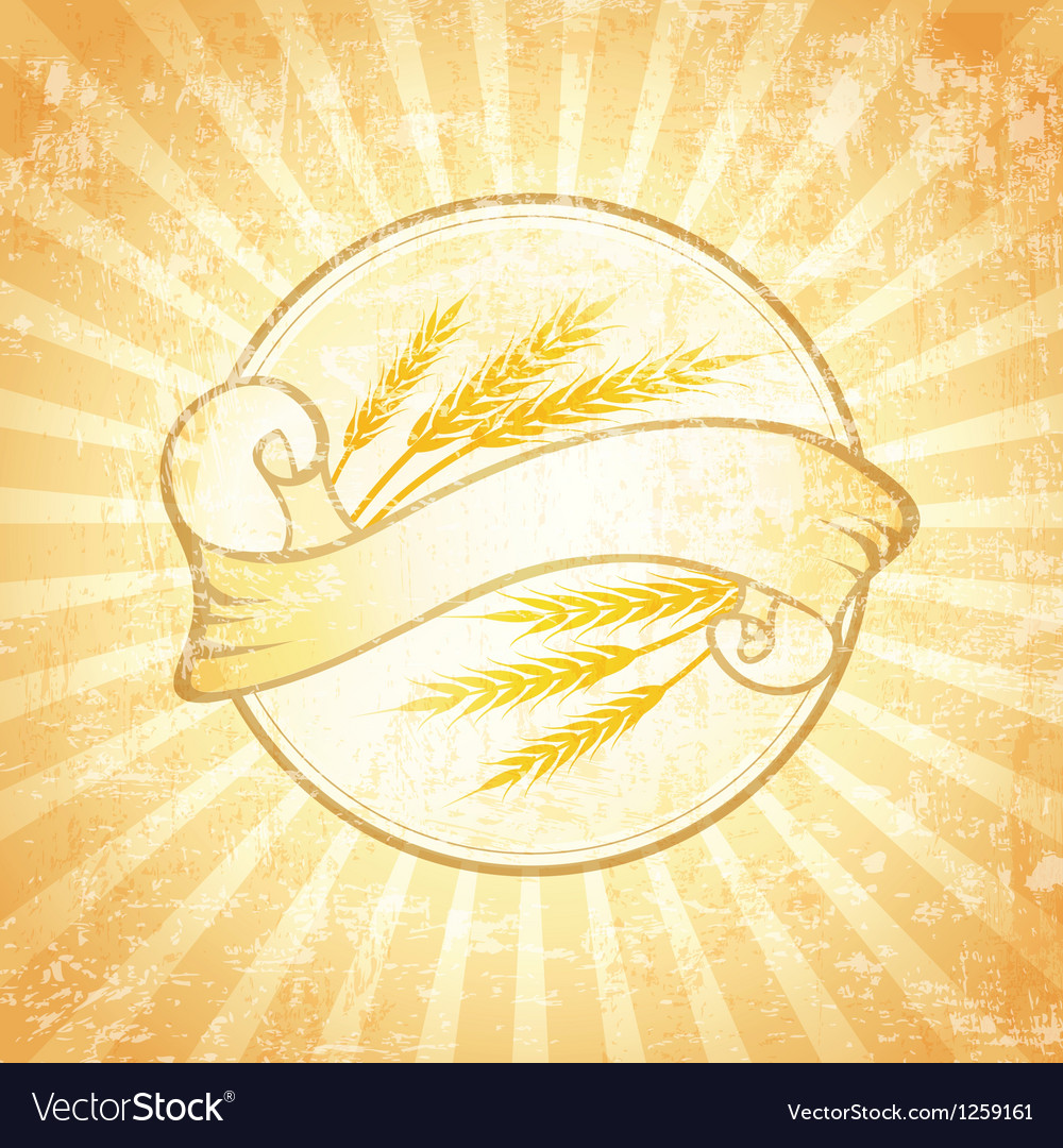 Wheat label background vector | Price: 1 Credit (USD $1)