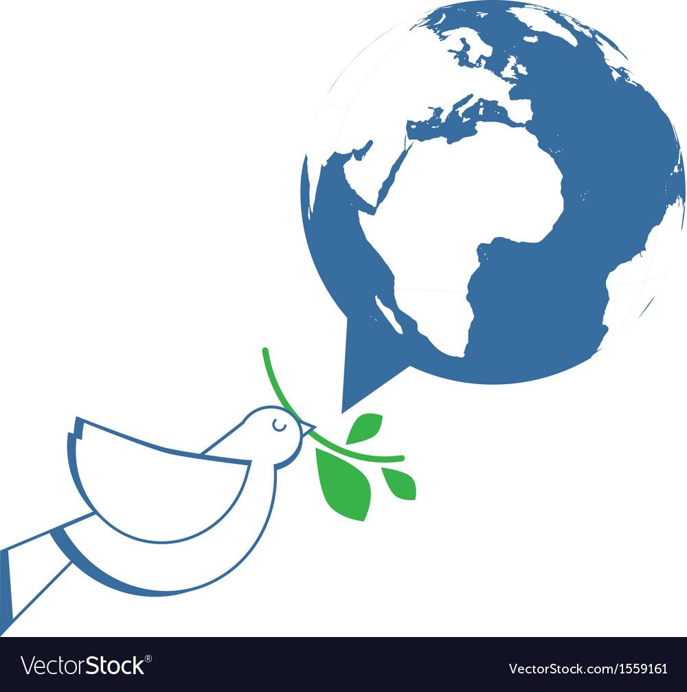 White dove holding olive branch vector   Price: 1 Credit (USD $1)