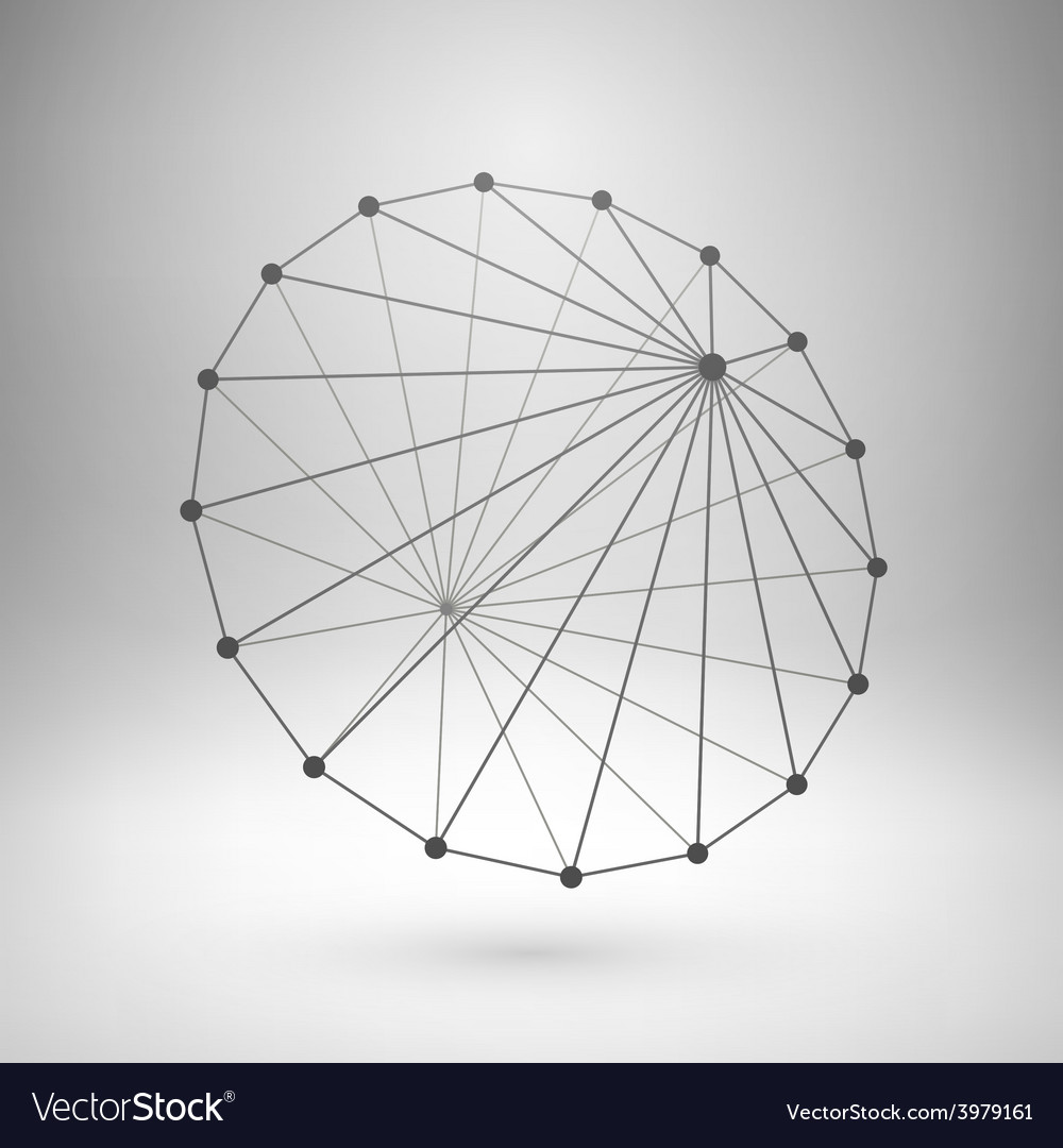 Wireframe mesh polygonal cone vector   Price: 1 Credit (USD $1)