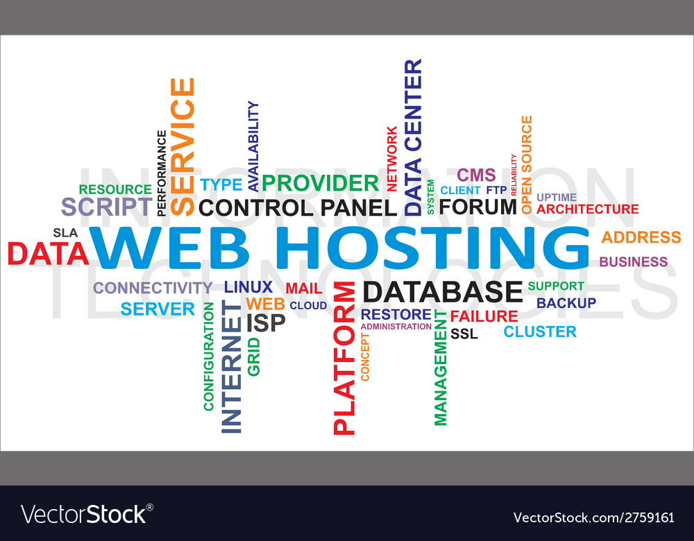 Word cloud web hosting vector | Price: 1 Credit (USD $1)