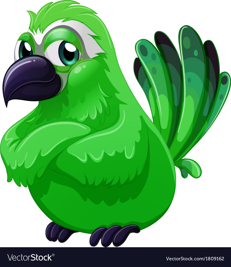 A scary green bird vector | Price: 1 Credit (USD $1)
