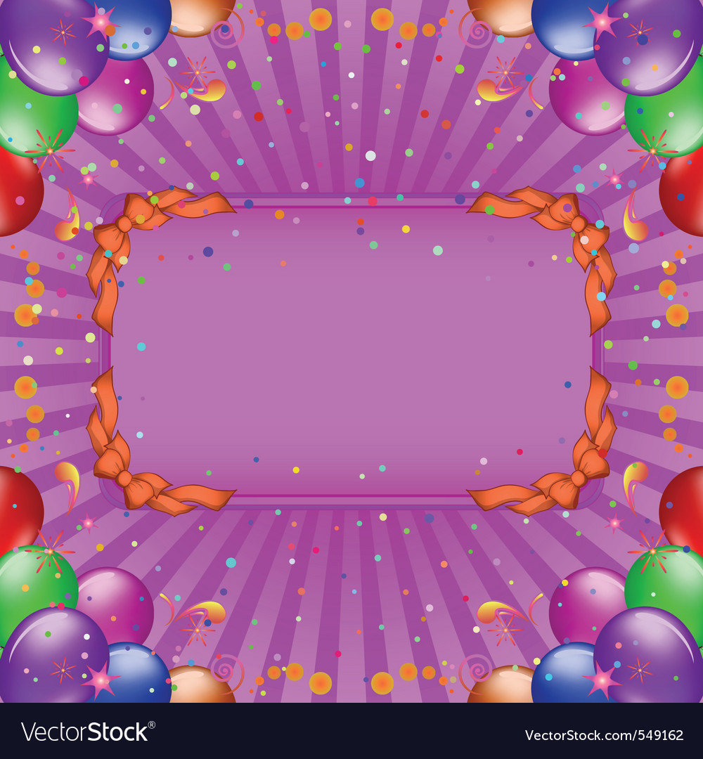 Balloons frame vector | Price: 1 Credit (USD $1)