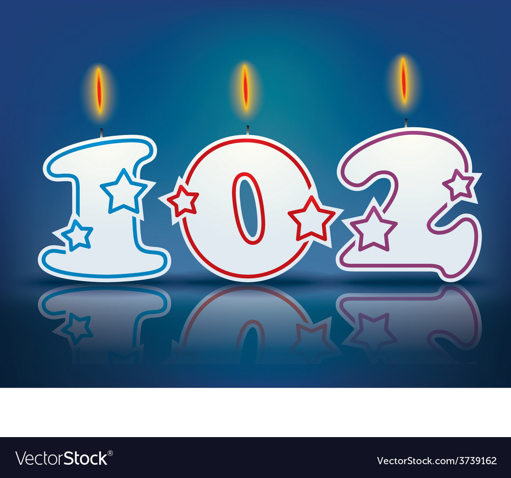 Birthday candle number 102 vector | Price: 1 Credit (USD $1)