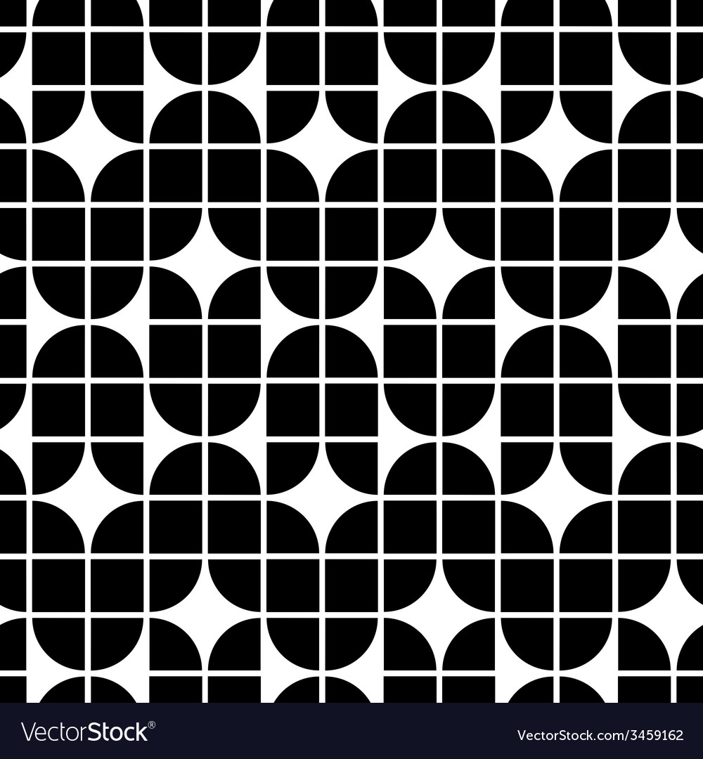 Black and white geometric abstract seamless vector | Price: 1 Credit (USD $1)