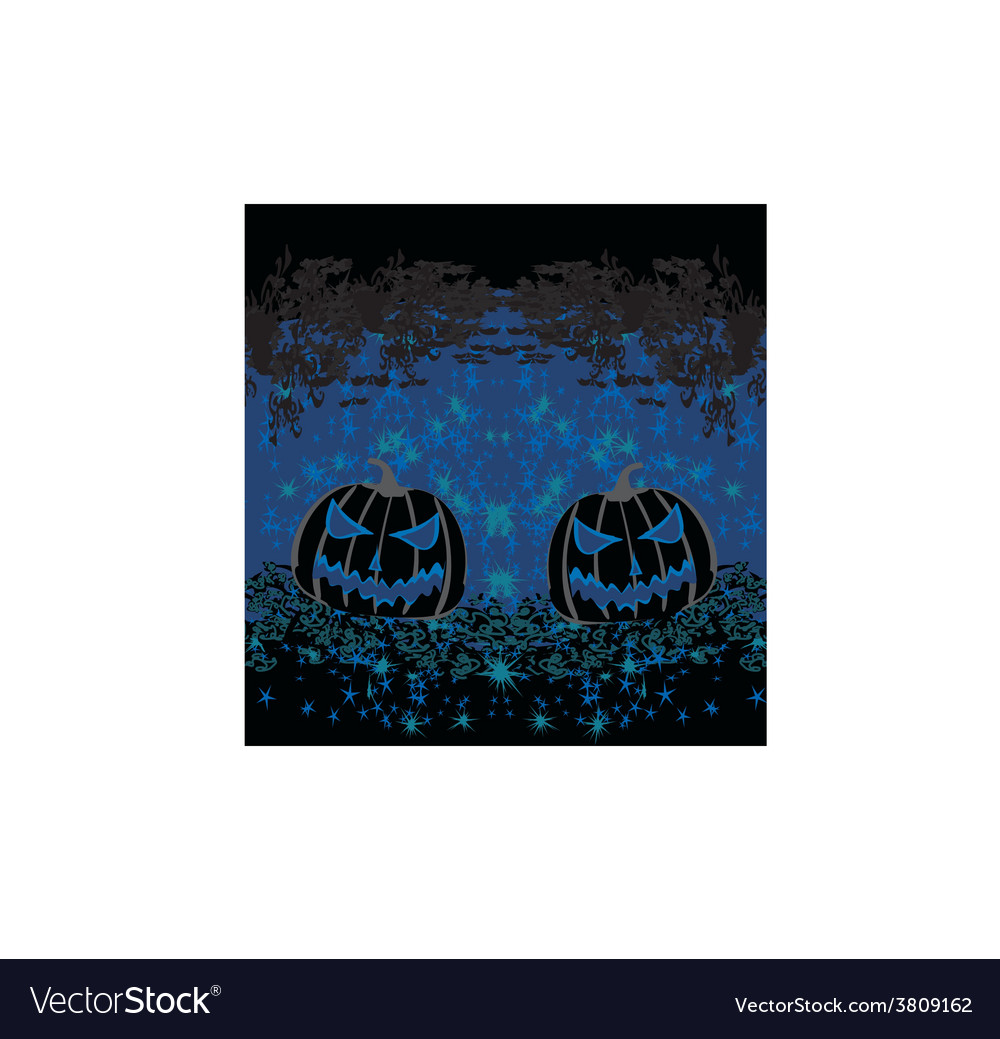 Broken halloween pumpkin on grunge background vector | Price: 1 Credit (USD $1)