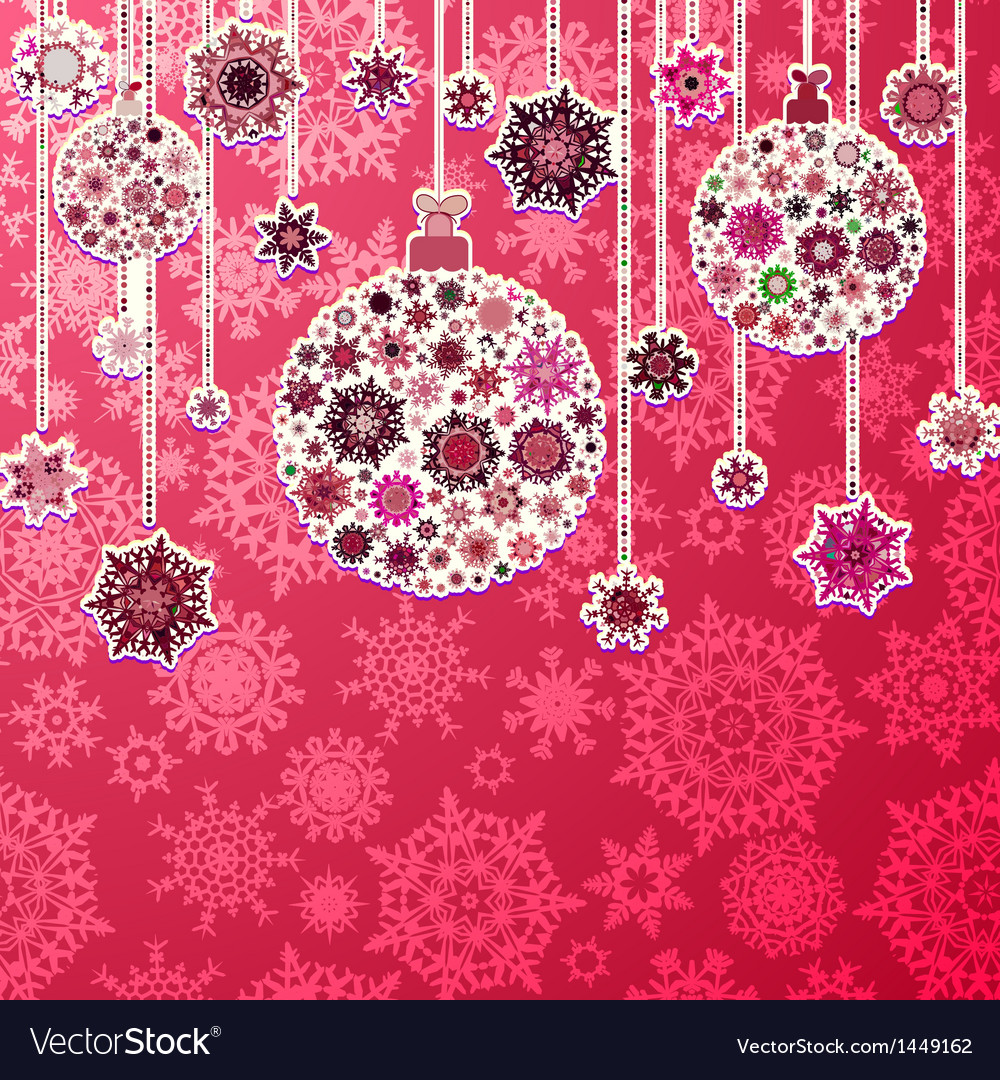 Christmas purple background with baubles eps 8 vector   Price: 1 Credit (USD $1)