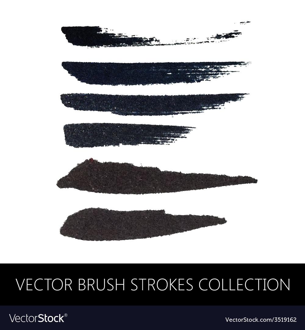 Collection of brush strokes vector | Price: 1 Credit (USD $1)