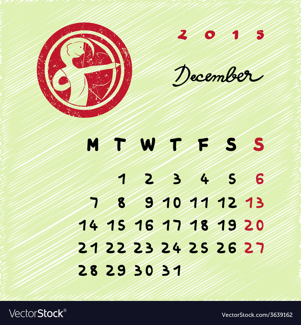 December 2015 zodiac vector | Price: 1 Credit (USD $1)
