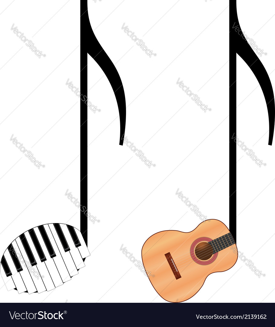 Funny music notes vector | Price: 1 Credit (USD $1)