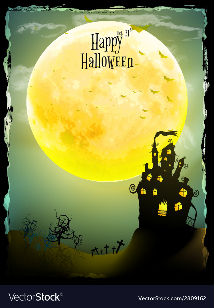 Halloween party greeting card eps 10 vector | Price: 1 Credit (USD $1)
