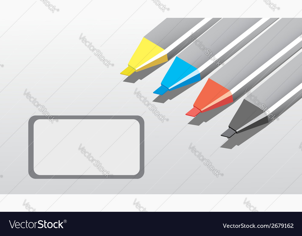 Markers vector | Price: 1 Credit (USD $1)