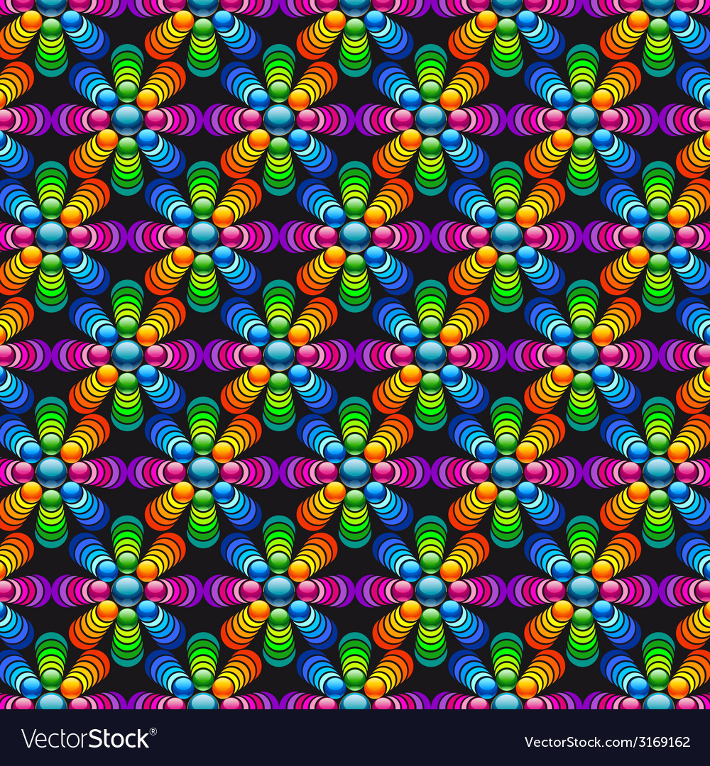 Mosaic floristic background vector | Price: 1 Credit (USD $1)