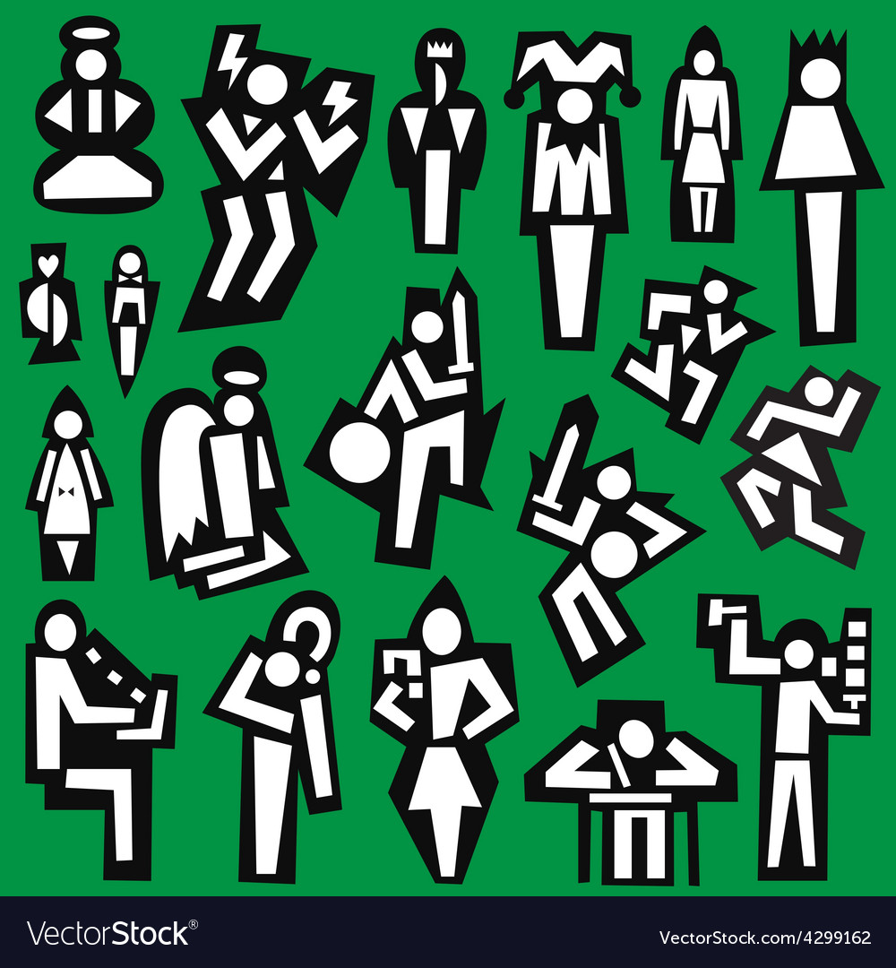 People - set symbols vector | Price: 1 Credit (USD $1)