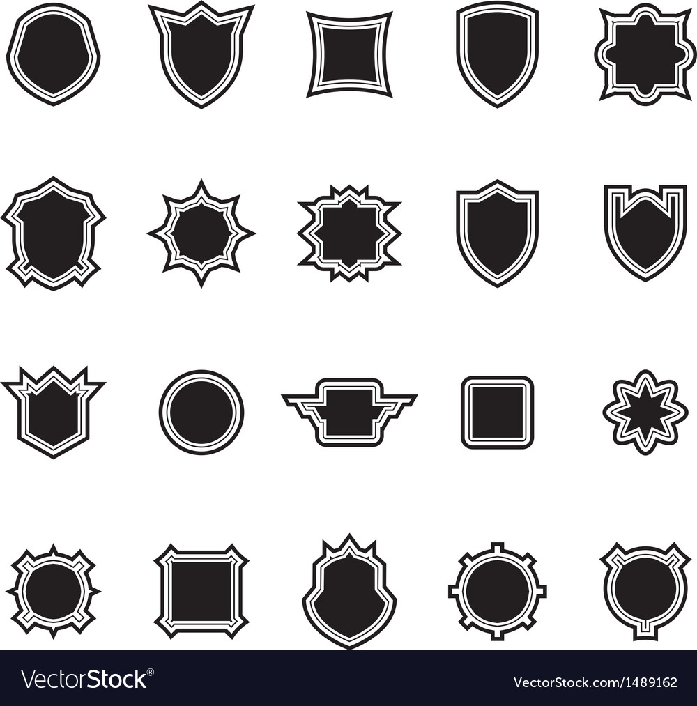 Shield set 2 vector