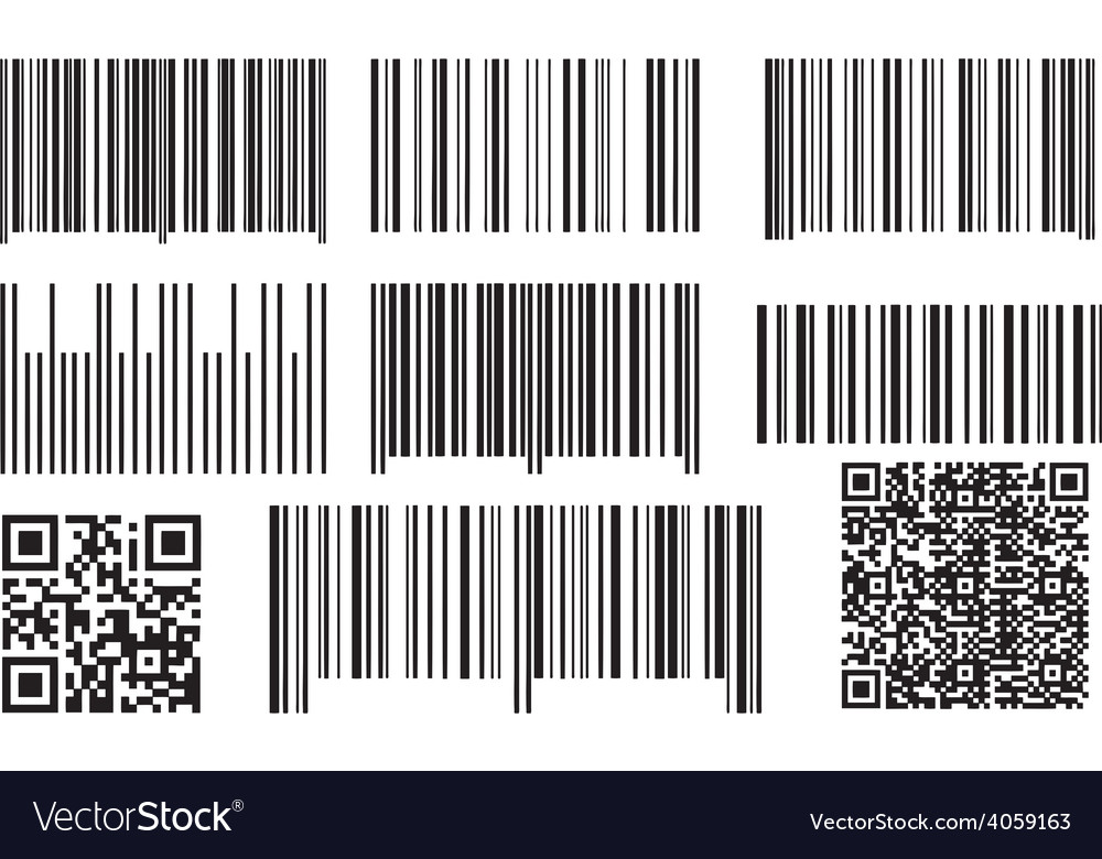 Bar codes and qr codes vector | Price: 1 Credit (USD $1)
