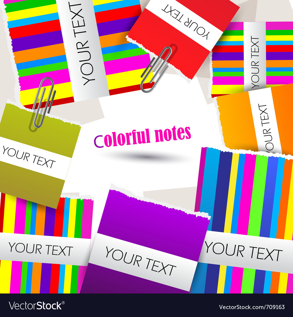 Colorful little notes on white background with spa vector | Price: 1 Credit (USD $1)