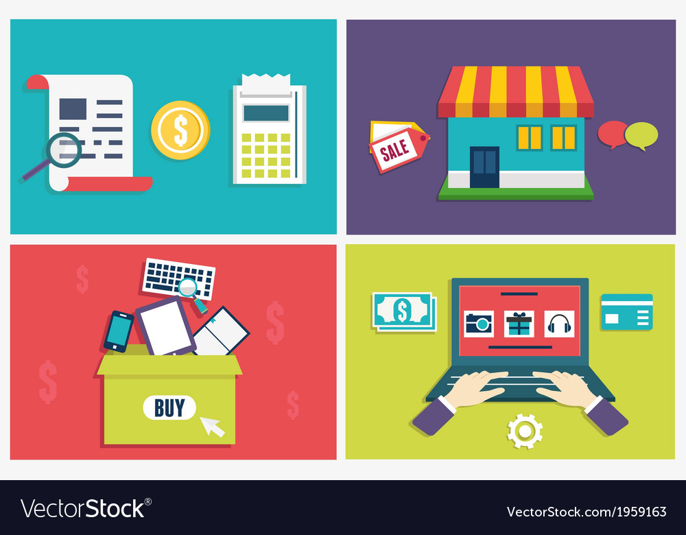 Concept of process online shopping vector | Price: 1 Credit (USD $1)