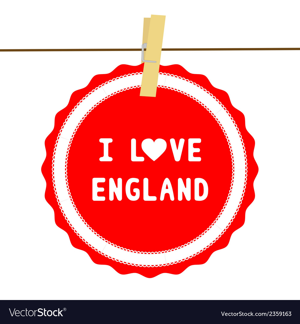 I love england4 vector | Price: 1 Credit (USD $1)