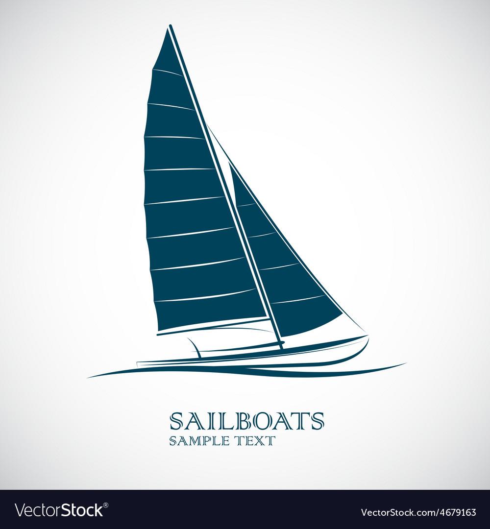Sailing boats vector | Price: 1 Credit (USD $1)