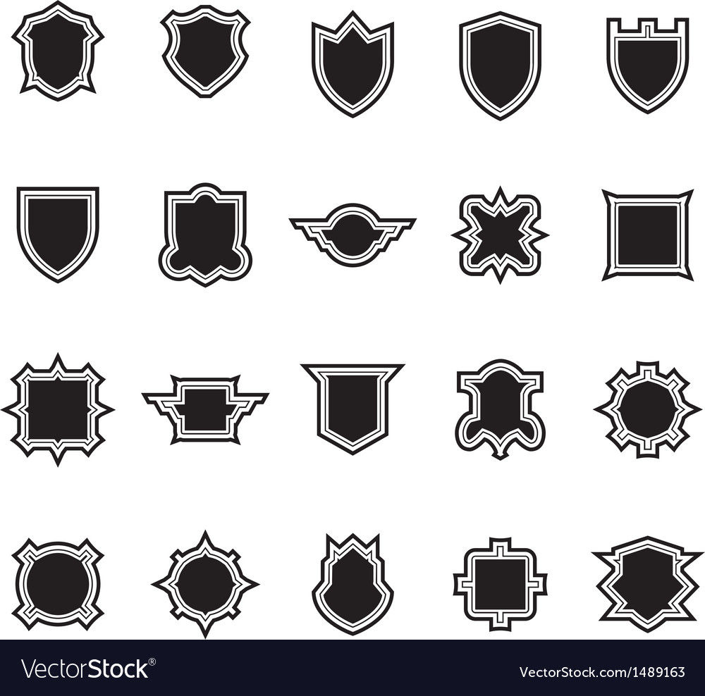 Shield set 3 vector | Price: 1 Credit (USD $1)