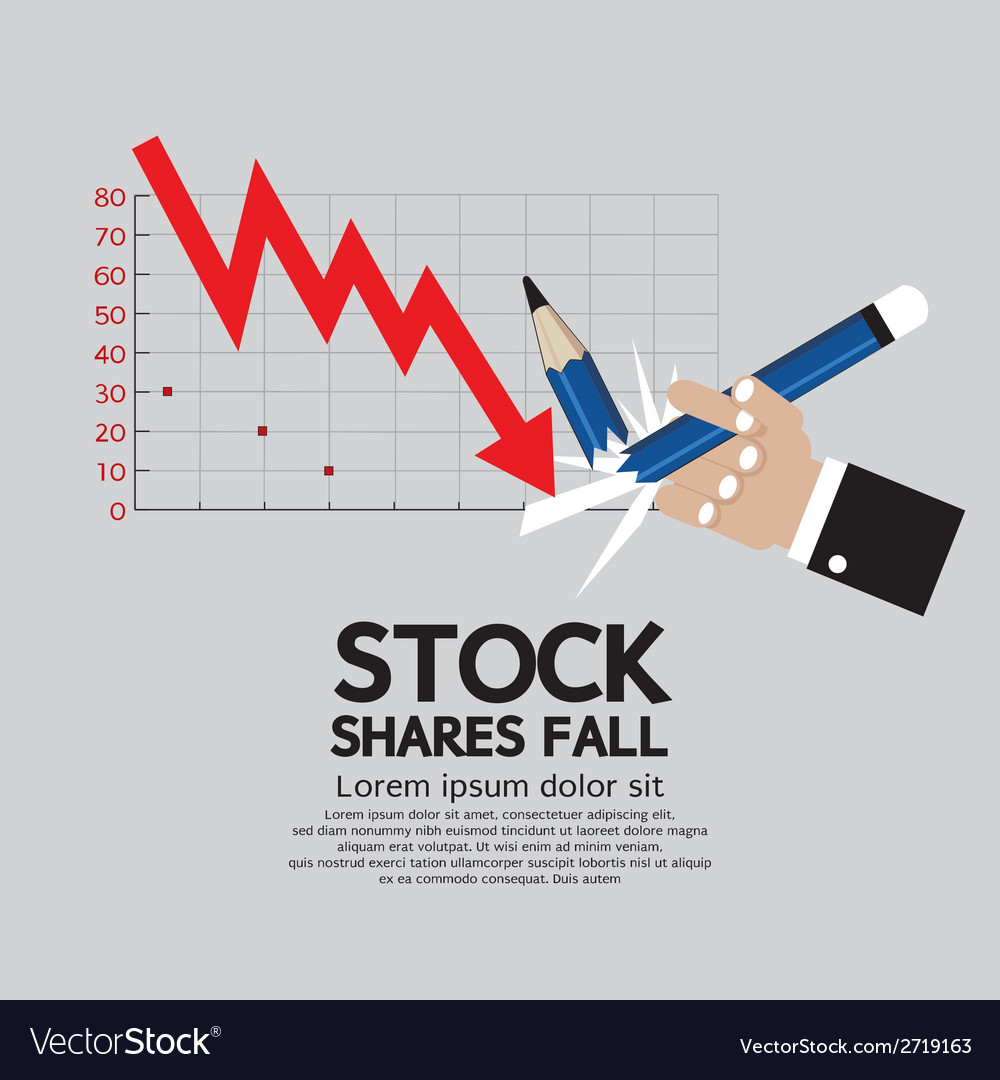 Stock shares fall vector | Price: 1 Credit (USD $1)