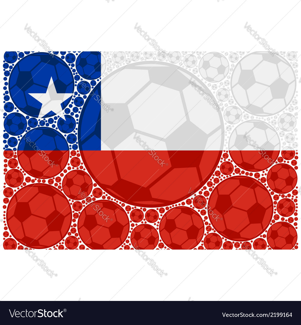 Chile soccer balls vector | Price: 1 Credit (USD $1)