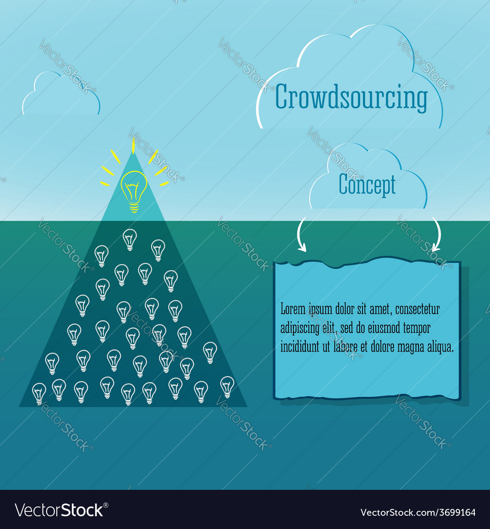 Crowdsourcing concept simple infographics and vector | Price: 1 Credit (USD $1)