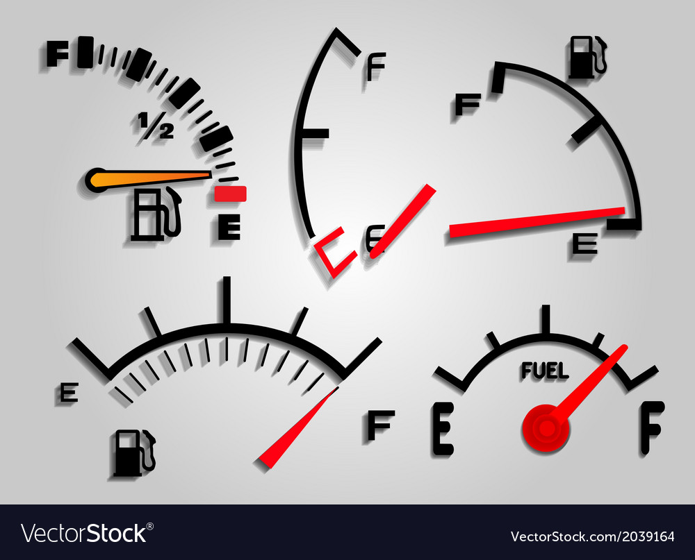 Fuel indicator vector | Price: 1 Credit (USD $1)