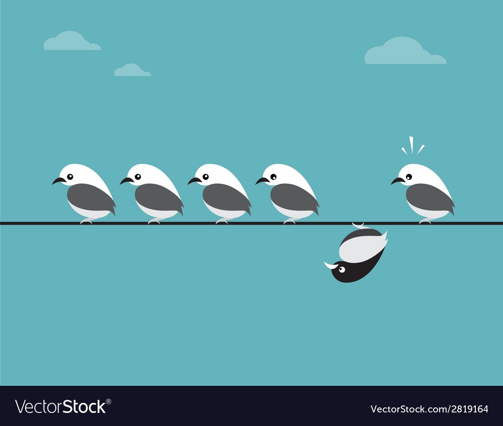 Image of birds group vector | Price: 1 Credit (USD $1)