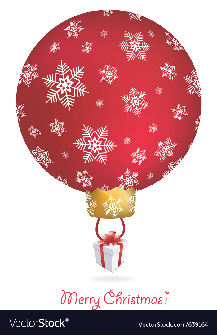New year tree ball with air balloon shape vector | Price: 1 Credit (USD $1)