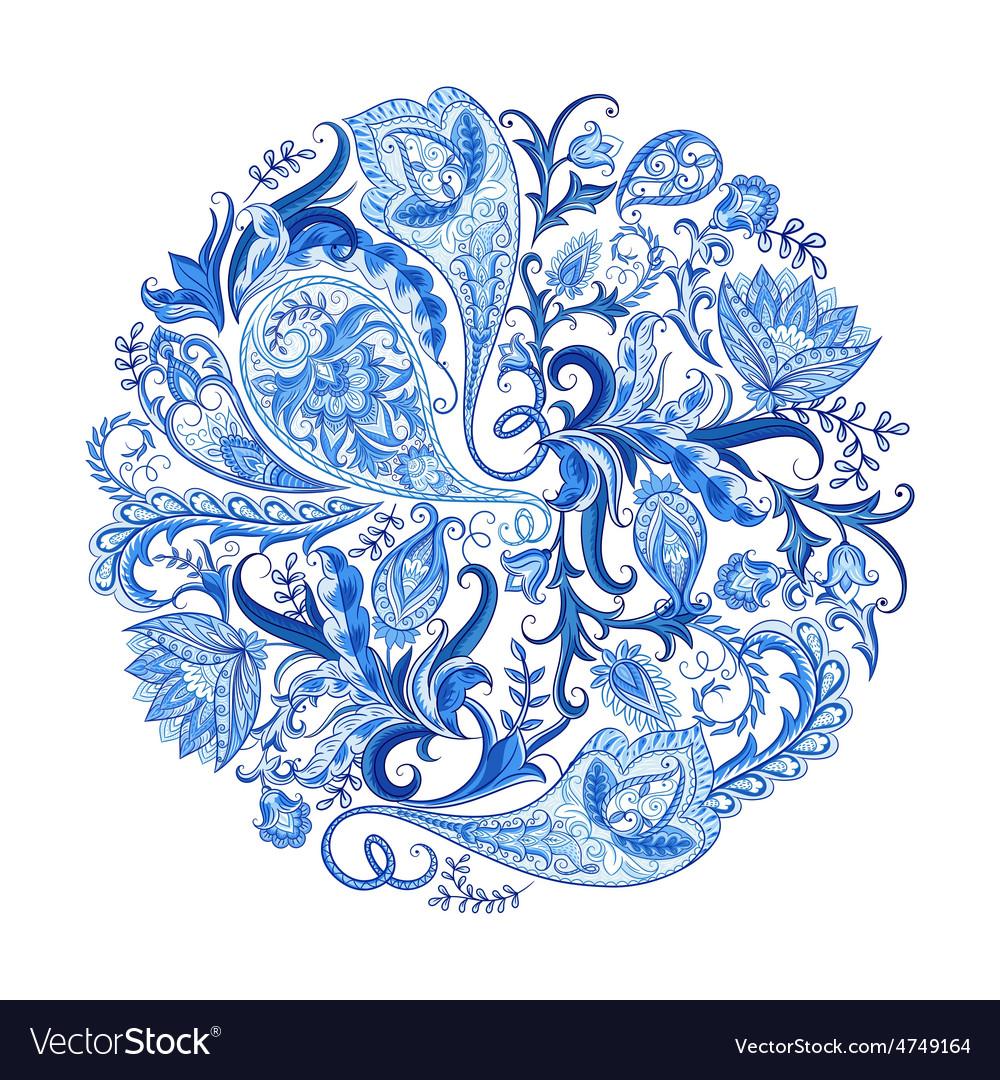 Paisley decorative pattern vector | Price: 1 Credit (USD $1)
