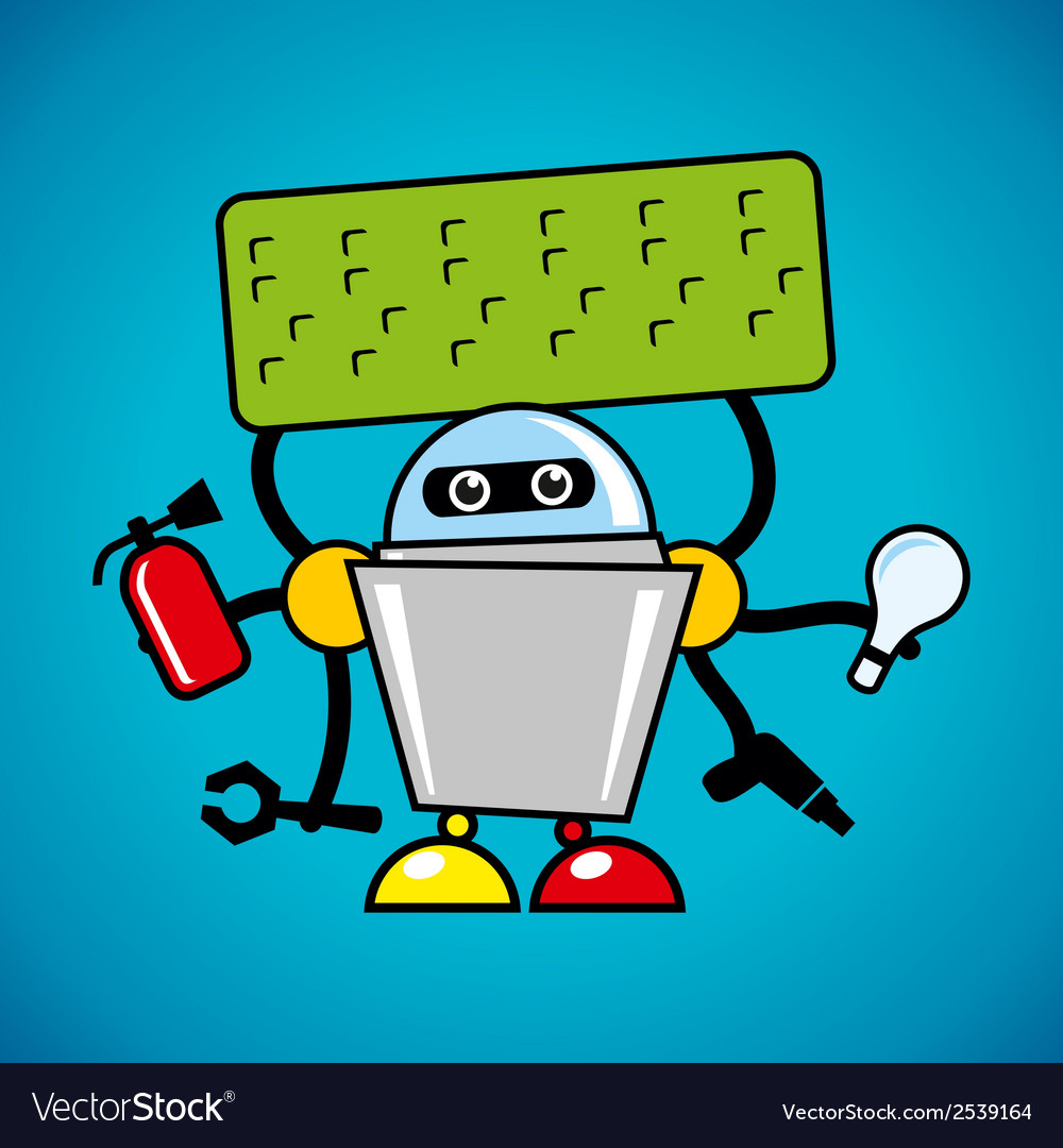 Robot assistant vector | Price: 1 Credit (USD $1)