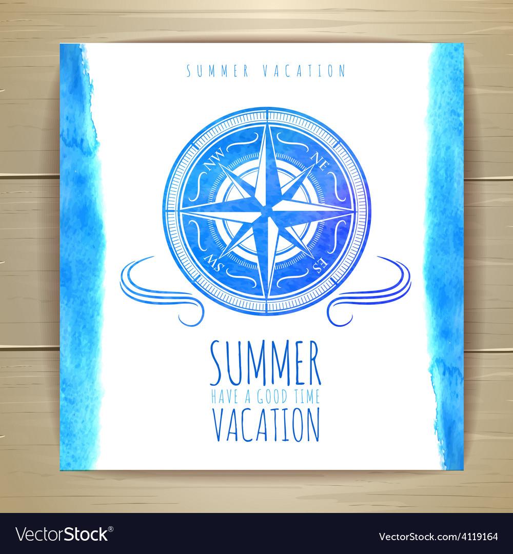 Watercolor summer typography design vector | Price: 1 Credit (USD $1)