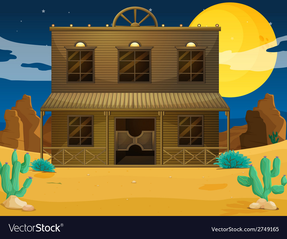 A big building at the desert vector | Price: 1 Credit (USD $1)