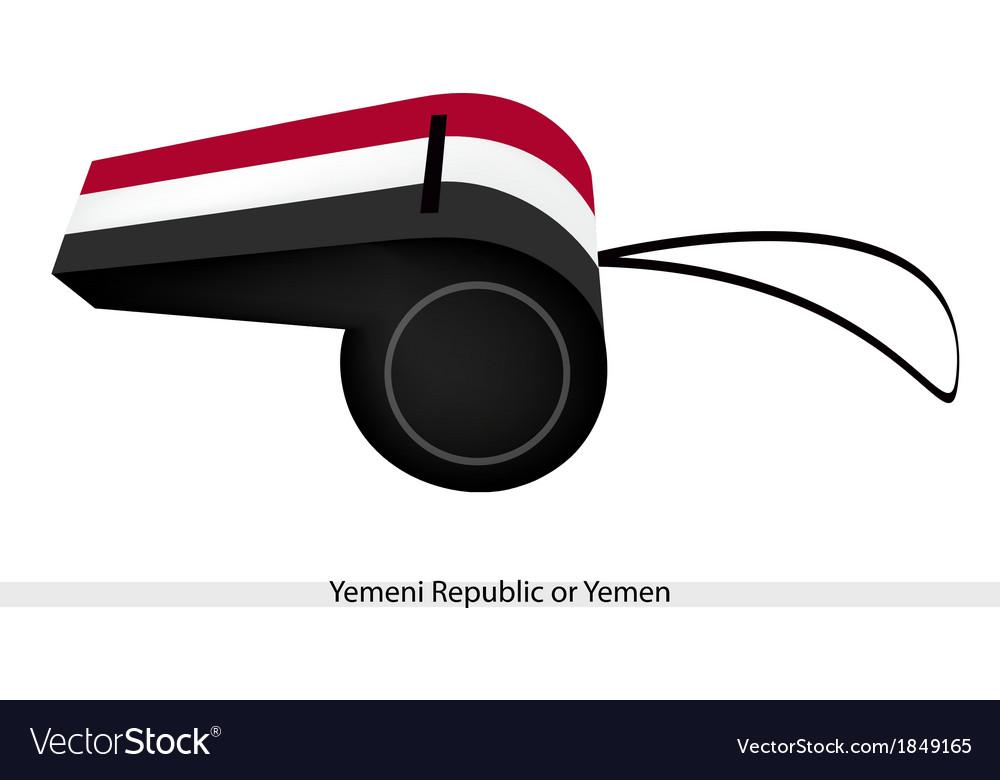A whistle of yemeni republic or yemen vector | Price: 1 Credit (USD $1)