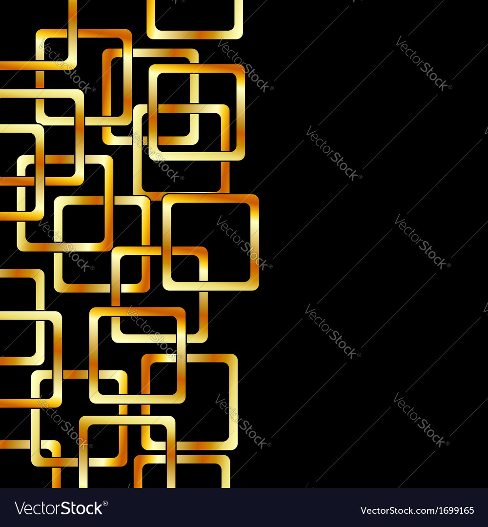 Background with golden squares vector | Price: 1 Credit (USD $1)
