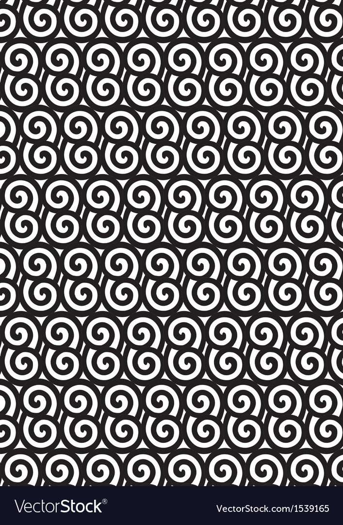 Black and white spiral pattern eps10 vector | Price: 1 Credit (USD $1)