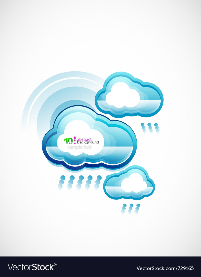 Blue technology cloud vector | Price: 1 Credit (USD $1)